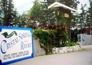 Historical Crystal Springs Resort, Lac La Hache, BC, offer all kind of camping on the water.